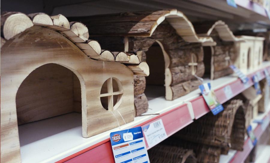 Nager Kaninchen Meerschweinchen Häuschen Haus